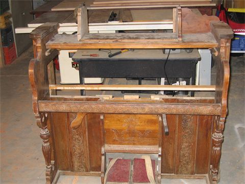 piano before upcycled