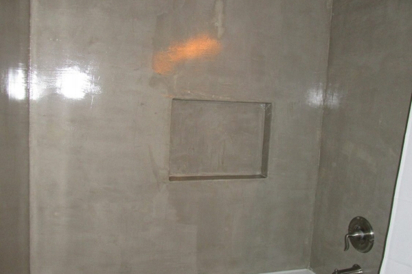 Concrete Bathroom Shower