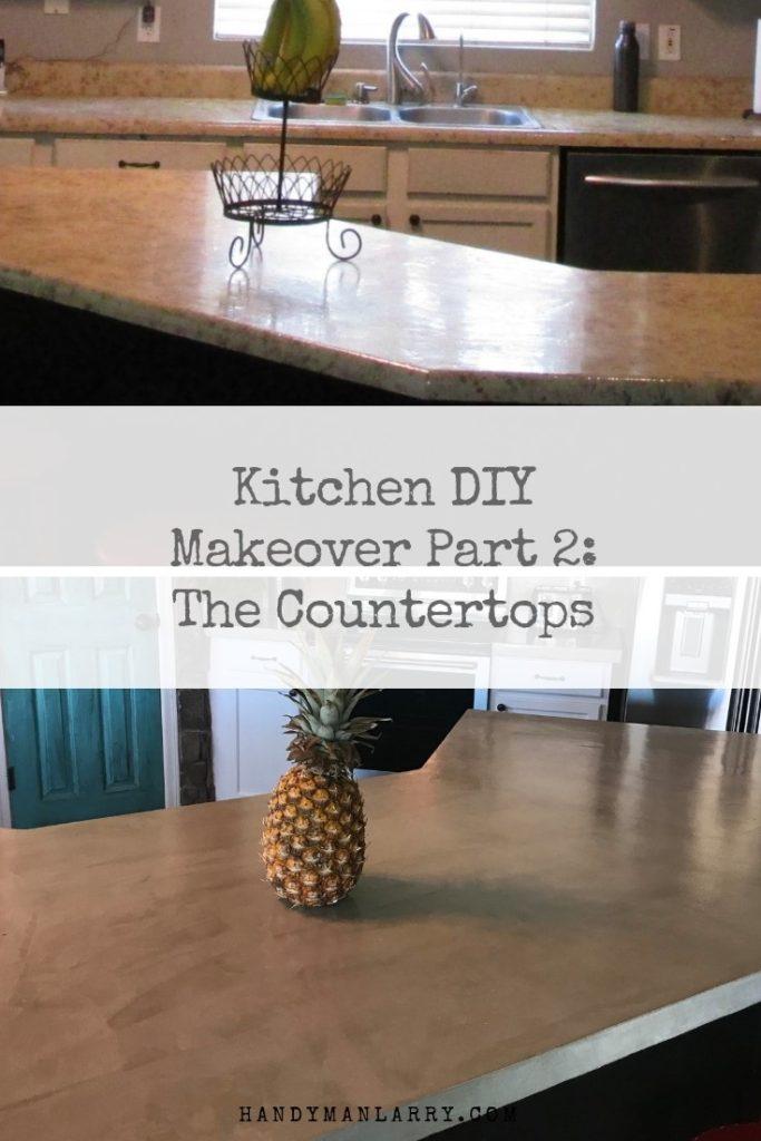 Kitchen DIY concrete Countertops part 2