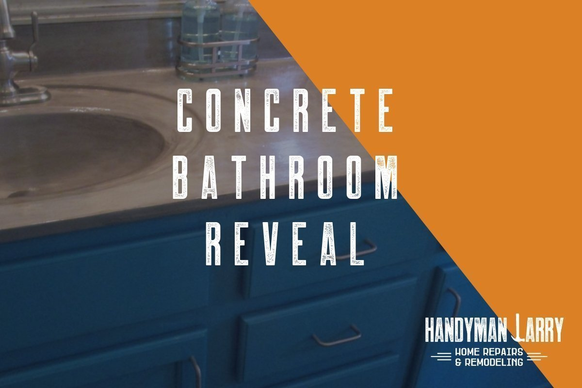 Concrete Bathroom Reveal