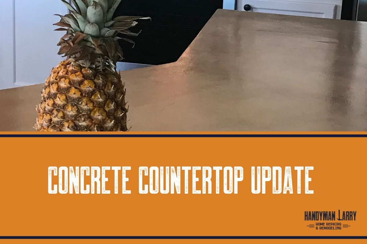 Kitchen Concrete Countertops Update
