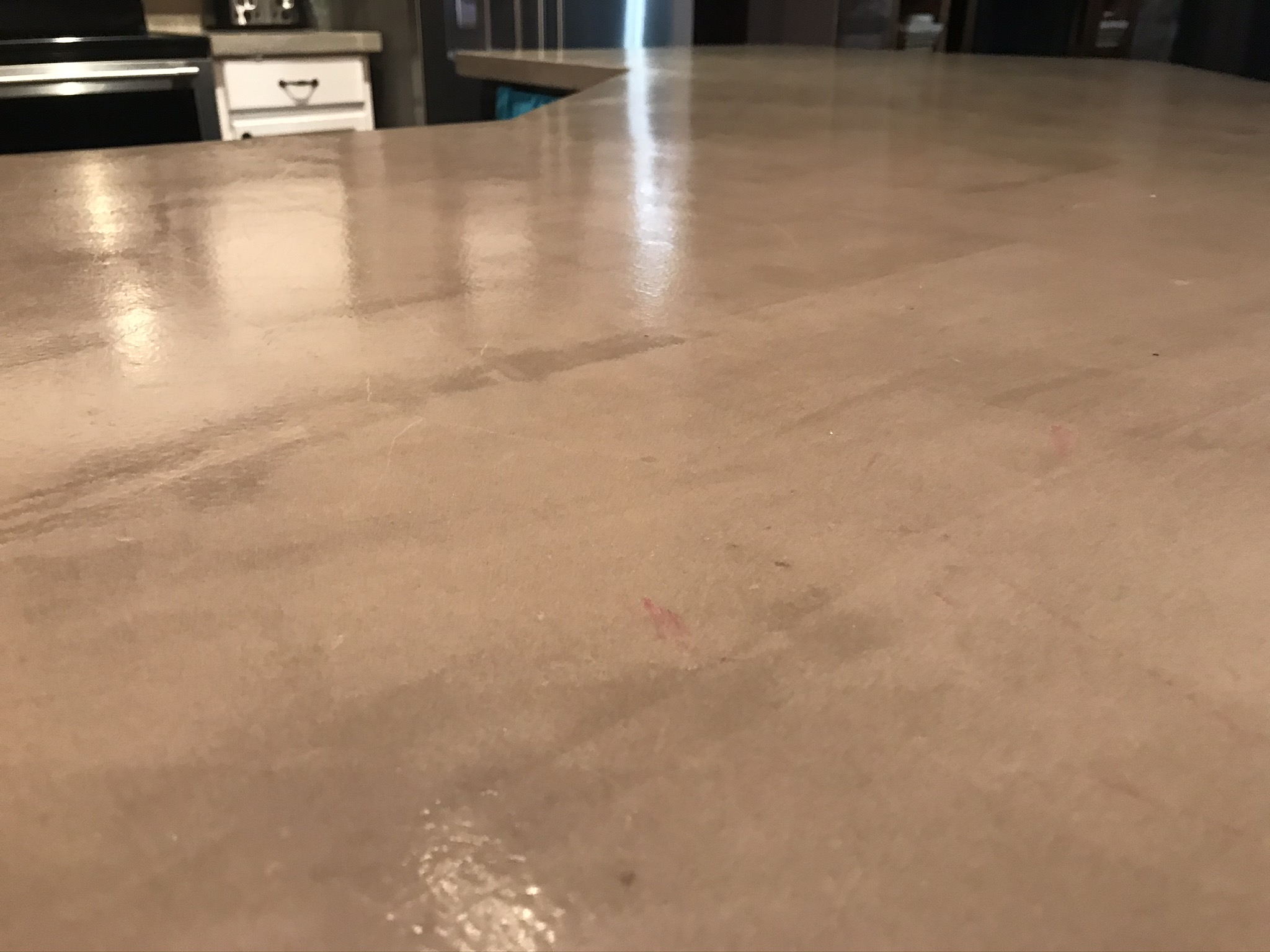 Up close with concrete countertop