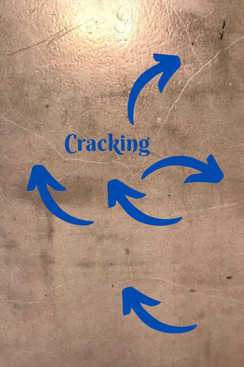 cracking on concrete countertops