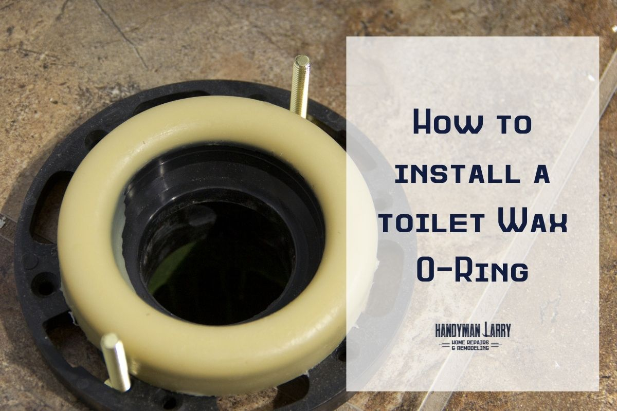 How to replace a toilet wax o-ring