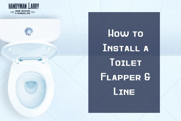 How to replace a toilet flapper and line