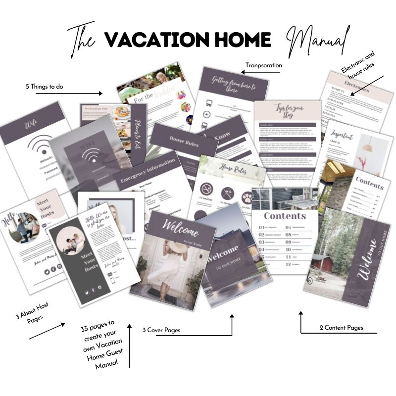 Vacation rental templates bundle House Guide