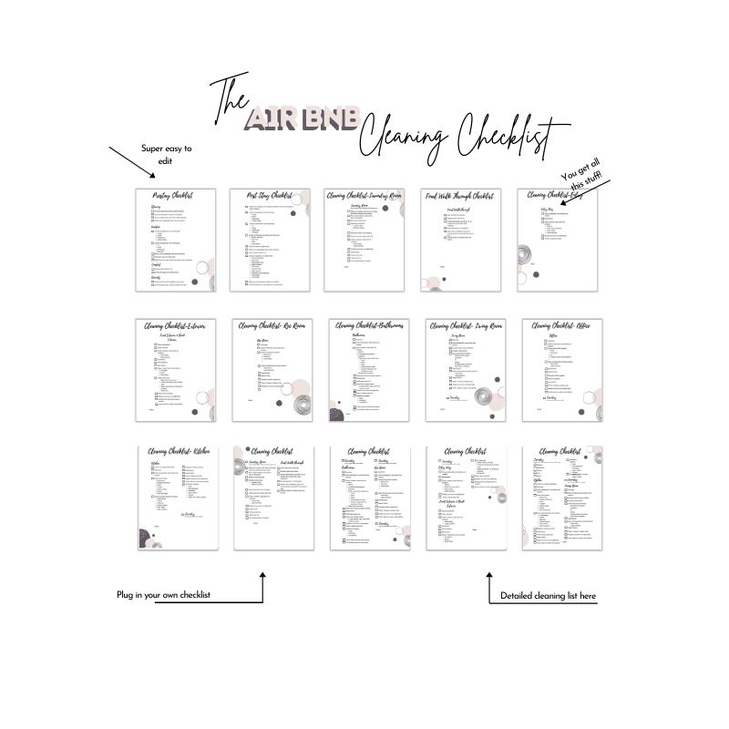 Vacation rental templates cleaning checklist