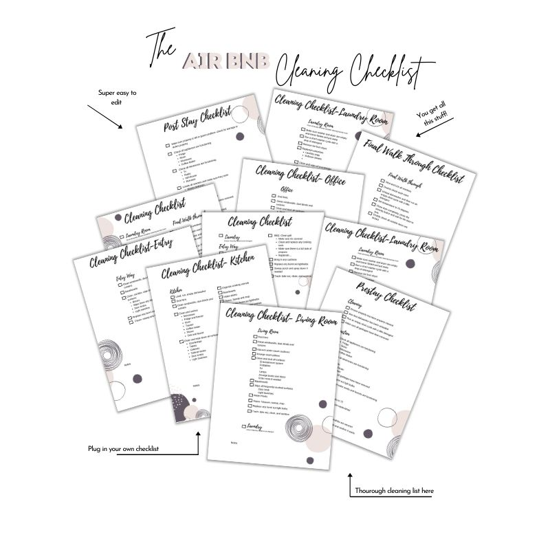 Vacation rental templates cleaning list