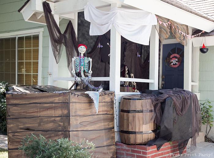 Pirate Ship Halloween Porch Decor