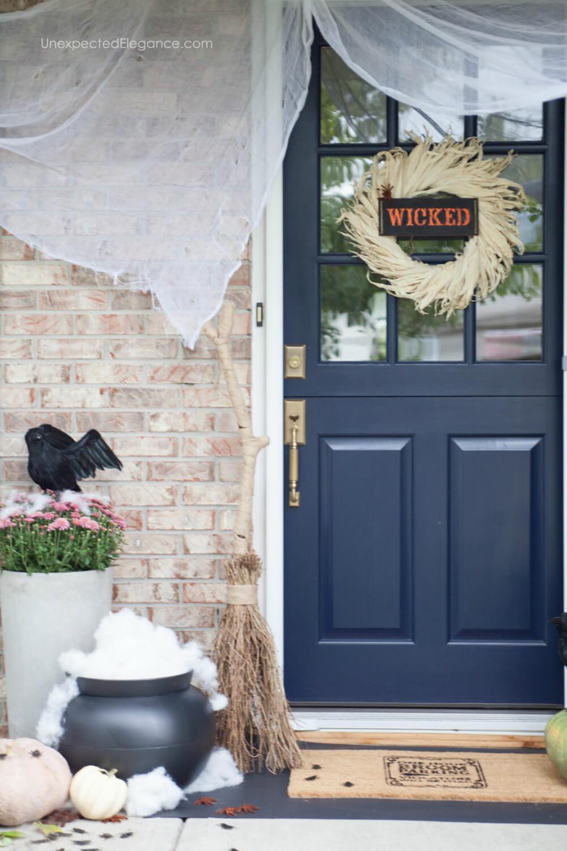 Halloween Porch decor -wicked theme